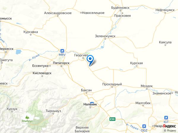 посёлок Фазанный на карте
