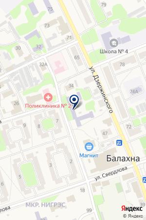 БАЛАХНИНСКАЯ ДЮСШ на карте Балахны