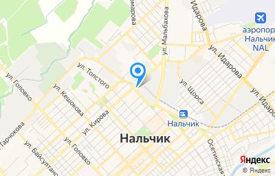 Местоположение на карте пункта техосмотра по адресу г Нальчик, ул Ахохова, д 100