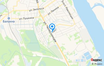 Местоположение на карте пункта техосмотра по адресу Нижегородская обл, г Балахна, ул Челюскинцев, д 27А