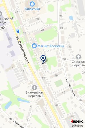 МАГАЗИН СПОРТТОВАРЫ на карте Дзержинска