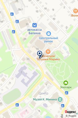 АПТЕКА МИР ЗДОРОВЬЯ на карте Балахны