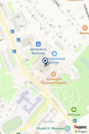 БАЛАХНИНСКАЯ АВТОСТАНЦИЯ на карте Балахны