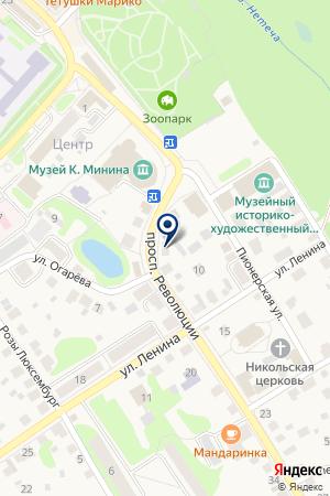 БАЛАХНИНСКИЙ ЛЕСХОЗ на карте Балахны