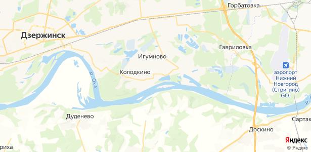 Бабино на карте