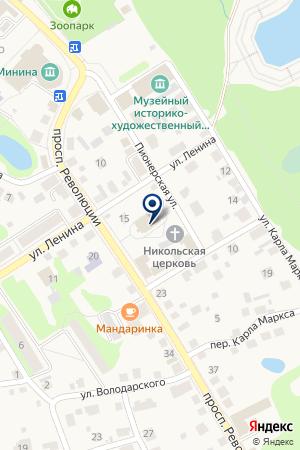 БАЛАХНИНСКИЙ КРАЕВЕДЧЕСКИЙ МУЗЕЙ на карте Балахны