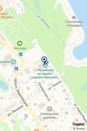 БАЛАХНИНСКИЙ на карте Балахны