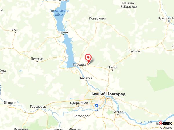 деревня Караваево на карте