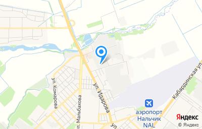 Местоположение на карте пункта техосмотра по адресу г Нальчик, ул Мовсисяна, д 3