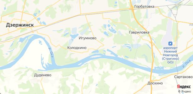 Юрьевец на карте