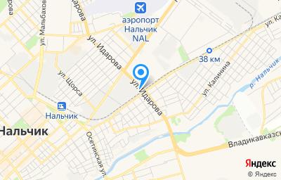 Местоположение на карте пункта техосмотра по адресу г Нальчик, ул Кабардинская, д 162