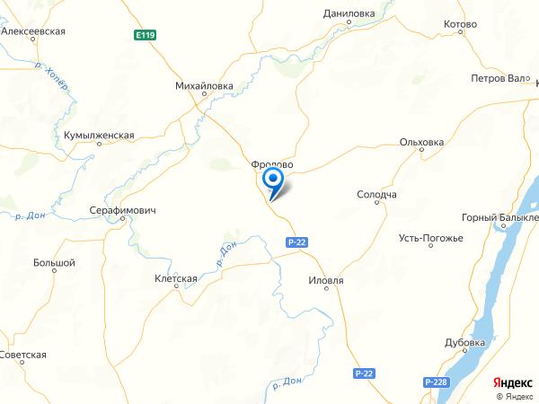 хутор Новая Паника на карте