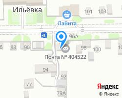 Схема местоположения почтового отделения 404522