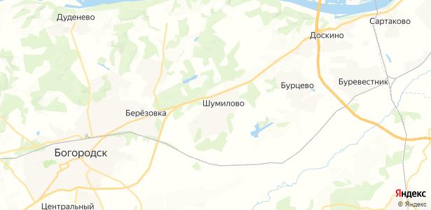 Шумилово на карте