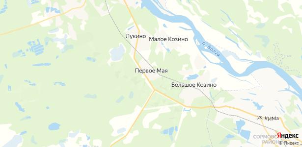 Первое Мая на карте