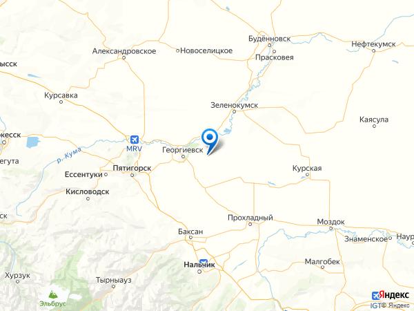 станица Урухская на карте