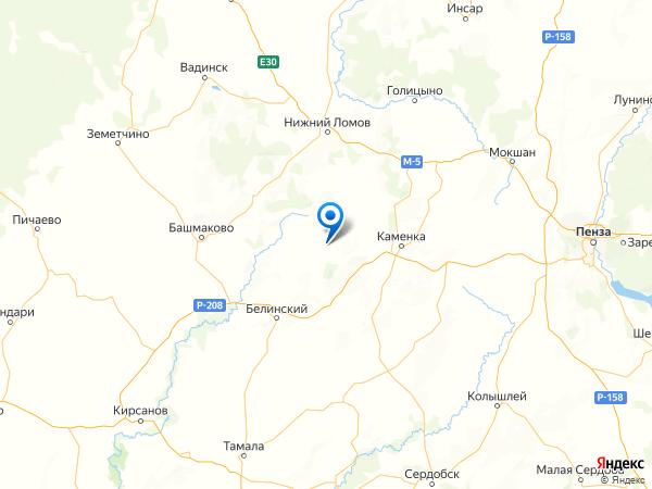 село Телятино на карте