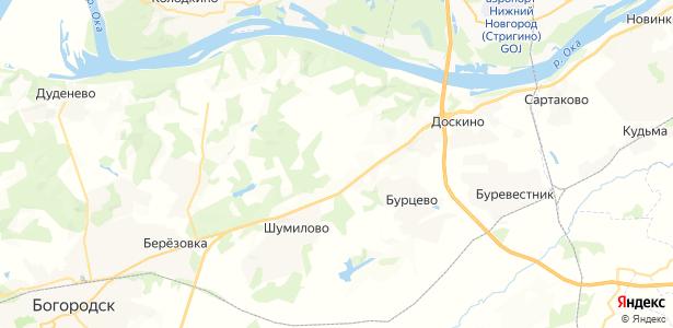 Банниково на карте