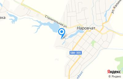Местоположение на карте пункта техосмотра по адресу Пензенская обл, с Наровчат, ул Гагарина, д 2А
