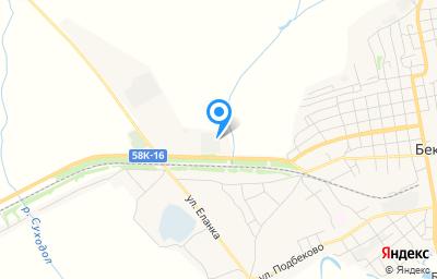 Местоположение на карте пункта техосмотра по адресу Пензенская обл, рп Беково, ул Автотранспортная, д 1Е