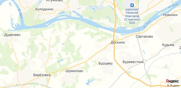 Поляны на карте