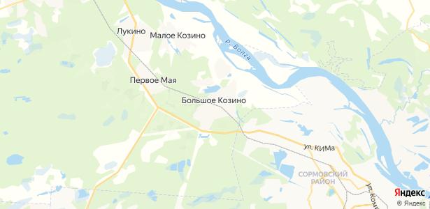 Большое Козино на карте