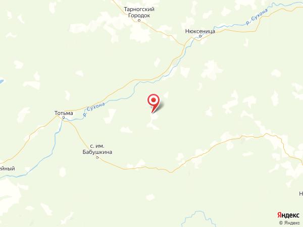деревня Мулино на карте
