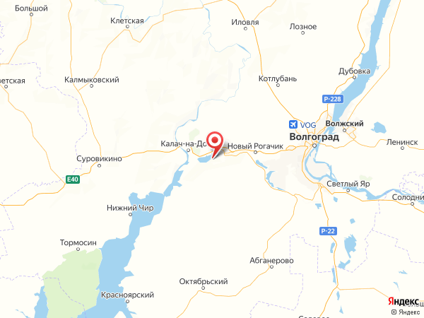 поселок Волгодонской на карте