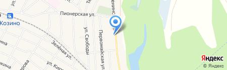 Продуктовый магазин на Ленинской на карте Большого Козино
