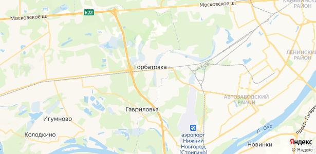 Горбатовка на карте