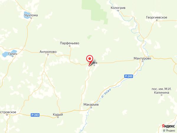 поселок Дементьево на карте