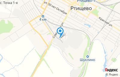 Местоположение на карте пункта техосмотра по адресу Саратовская обл, г Ртищево, тер МПМК, д 4А