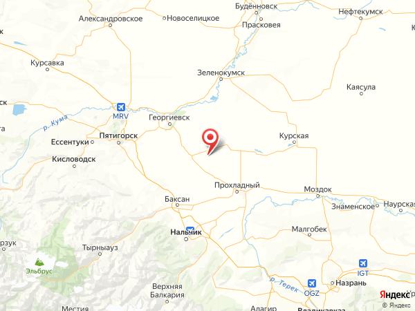 хутор Пегушин на карте