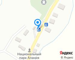 Схема местоположения почтового отделения 363511