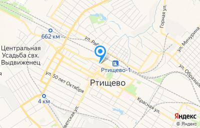 Местоположение на карте пункта техосмотра по адресу Саратовская обл, г Ртищево, ул Железнодорожная, д 40