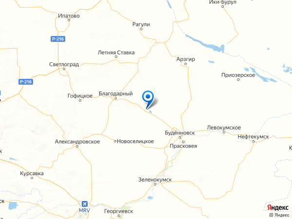 село Сотниковское на карте