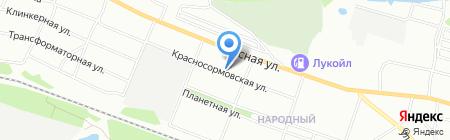 Оазис на карте Нижнего Новгорода