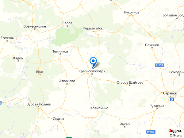 село Новый Усад на карте