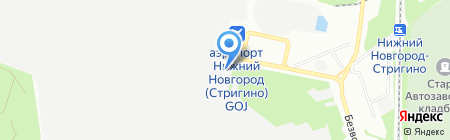 Лайнер на карте Нижнего Новгорода