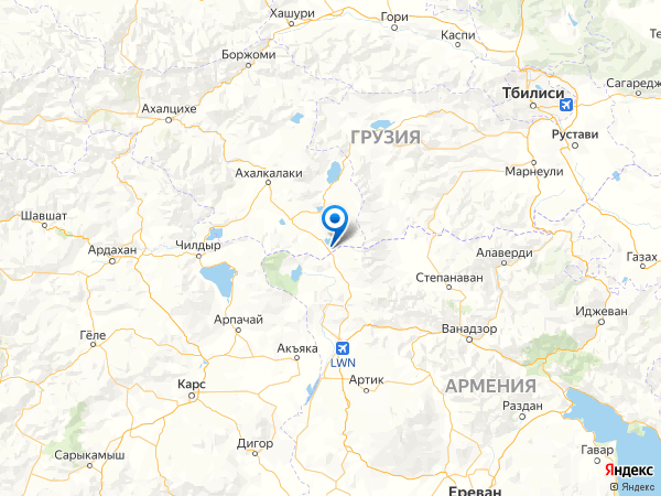 село Калинино на карте