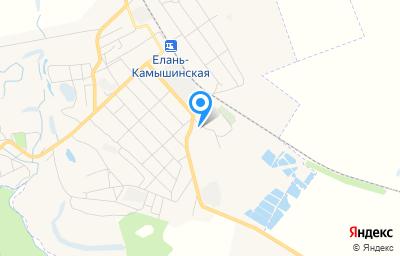 Местоположение на карте пункта техосмотра по адресу Волгоградская обл, рп Елань, ул Варшавская, д 56