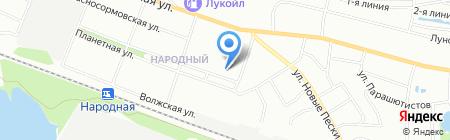 Восток на карте Нижнего Новгорода