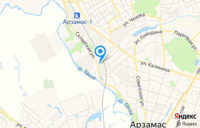 Местоположение на карте пункта техосмотра по адресу Нижегородская обл, г Арзамас, ул Складская, д 2Д