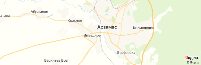 Арзамас на карте