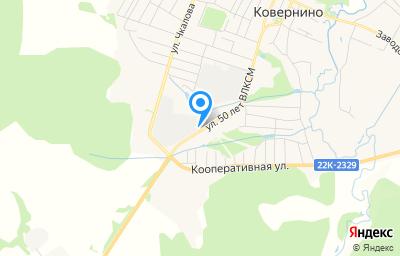 Местоположение на карте пункта техосмотра по адресу Нижегородская обл, рп Ковернино, ул 50 лет ВЛКСМ, д 6