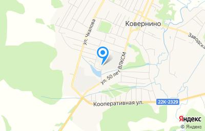 Местоположение на карте пункта техосмотра по адресу Нижегородская обл, рп Ковернино, ул 50 лет ВЛКСМ, зд 6