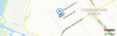 Детский сад №460 на карте Нижнего Новгорода
