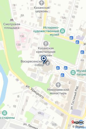 ВОСКРЕСЕНСКИЙ СОБОР на карте Бора