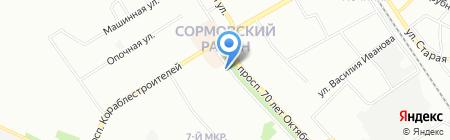 Сеть торгово-сервисных центров на карте Нижнего Новгорода