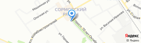 Лавка садовода на карте Нижнего Новгорода